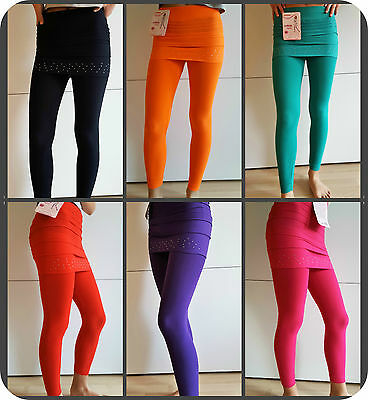 Kinder Leggings Minirock Strass Leggins Hose Strech 110,116.128,134,140,146,152