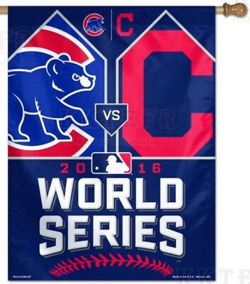 New Chicago Cubs Cleveland Indians  World Series Flag Banner 5X3FT