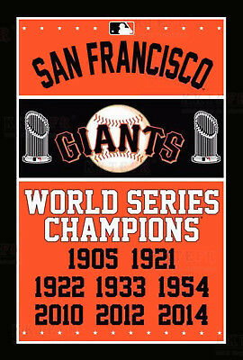New San Francisco Giants World Series Champions Flag 3x5ft Polyester MLB Banner