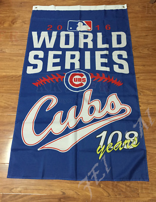 NEW 2016 world series champions Chicago Cubs flag with 2 metal Grommets
