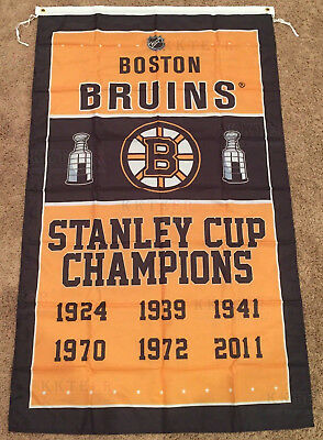 Boston Bruins Stanley Cup Champions 3' x 5' Flag Banner