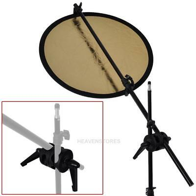 Dual Head Grip Swivel Head Holder Bracket for Studio flash Reflector Boom  hv2n