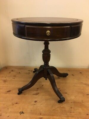 Vintage Antique Round Side Occasional Table Oak Mahogany?