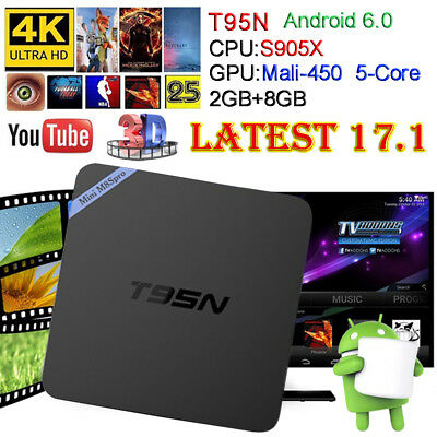 T95N Amlogic S905 2GB 8GB Android 6.0 Marshmallow KODI TV BOX 4K IPTV Decoder
