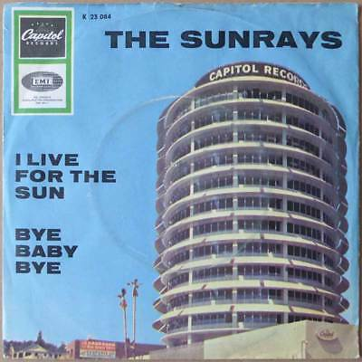 "7"" The Sunrays - I Live For The Sun - Beat, Rock, Surf - Deutschland 1965 - VG++"