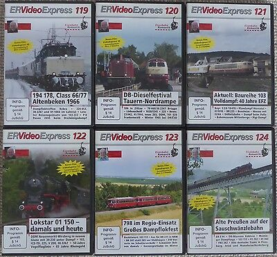 ER Video Express 119, 120, 121, 122, 123, 124 | Eisenbahn-Romantik DVD