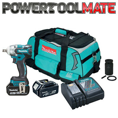 Makita DTW285TX2 18v Brushless Impact Wrench Scaffolders Kit