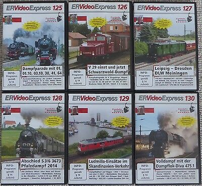 ER Video Express 125, 126, 127, 128, 129, 130 | Eisenbahn-Romantik DVD