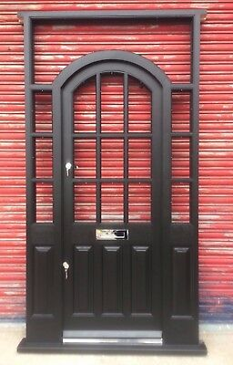 Original Solid Hardwood Arched Front door with fanlight and sidelights! Bespoke!