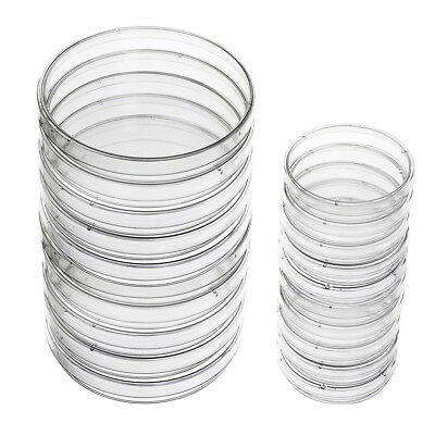 Plastic Petri Dish Sterile Dishes with Lid, 100 mm and 60 mm, 20 Pcs L7I1