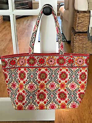 NWOT Vera Bradley Folkloric Grand Tote Bag - Perfect for Carrying Loads of Stuff