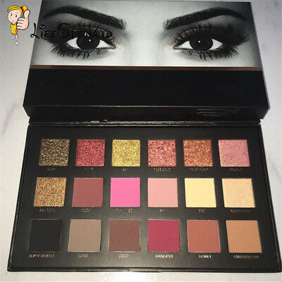 Pro Rose Gold Eyeshadow Makeup 18 Colors Matte Eyeshadow Palette Cosmetics