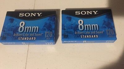 Sony 8mm Standard 120 min Video Cassette Tapes Lot Of 2 Brand New Sealed