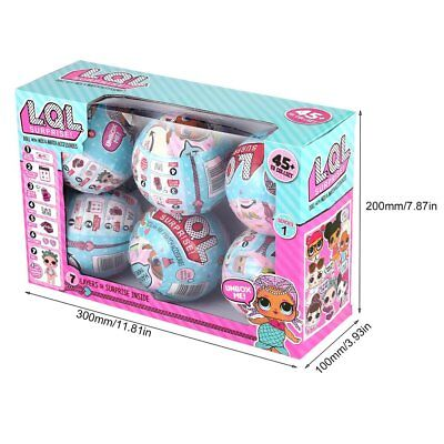 LOL Lil Outrageous 7 Layers Surprise Ball Series 1 Doll Blind Mystery Ball 6 PCS