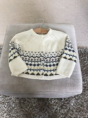 Mamas And Papas Fairisle Girls Cardigan