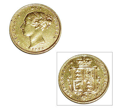 Pre-Owned 1878 Half Sovereign 22ct Gold Coin. Victoria Young Head & Shield Back