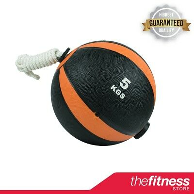 CoreX Fitness Weightlifting Training Rope Medicine Ball - 5KG FAST FREE DELIVERY