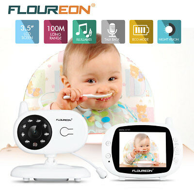 3.5'' LCD Baby Monitor Wireless Audio Viewer Security Video Camera Temperature