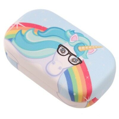 Rainbow Unicorn Contact Lens Case With Holder And Mirror