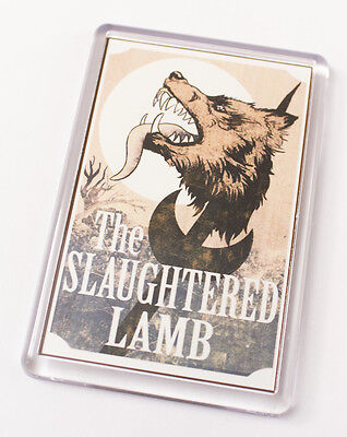 An American Werewolf in London Inspired (Slaughtered Lamb) Fridge Magnet