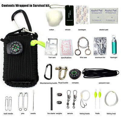 29 in1 Professional Survival Kit Outdoor Travel Hike Field Camp Emergency Kits