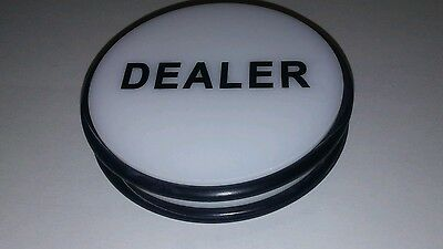 "3"" Casino Double Sided Dealer Button Puck  O-Ring Rubber Sides Wholesale  New"