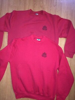 Four Queens Las Vegas Casino Hotel Lot 2 Red Sweatshirts Embroidered XL L