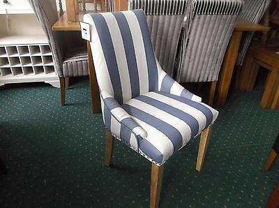 New Stunning Striped  Accent Boudoir Chair RRP £199