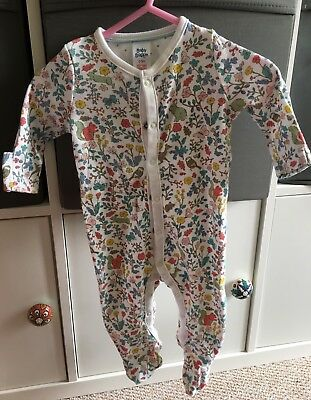 Mini Boden - Girls Woodland print Baby Grow (0-3 Months)