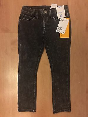 H&m Girls Super Soft Skinny Jeans Washed Black Age 3-4 Years New With Tags