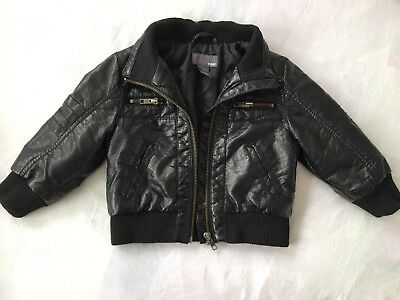 HM Baby Boy Leather Look Jacket 12-18 Months