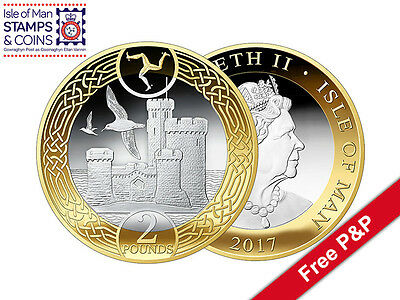 2017 Isle of Man Tower of Refuge £2 (Two Pounds) in Wallet Decimal Coin (AH39)