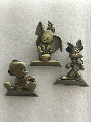 Disney Pins Chip & Dale-Dumbo-Donald Duck Bronze Statue- 3 Pins As Shown