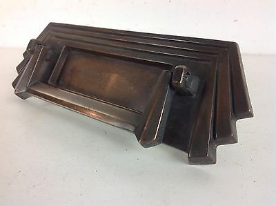 Art Deco Bronze Letterbox Knocker Handle Reclaimed Old Vintage Salvaged Antique