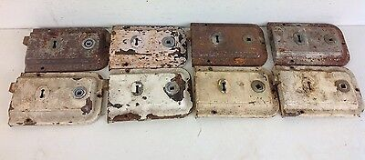 8 Vintage UNION Reclaimed Door Rim Locks Salvaged Old Project Architectural