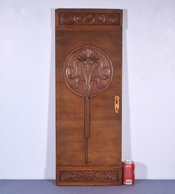 *Vintage French Art Deco Carved Panel in Oak Wood Salvage 1
