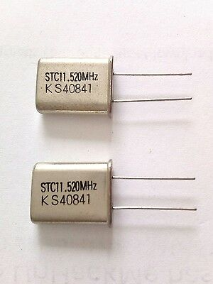 TWO  11.52MHz STC 11.520 MHz Quartz Crystal HC49 U
