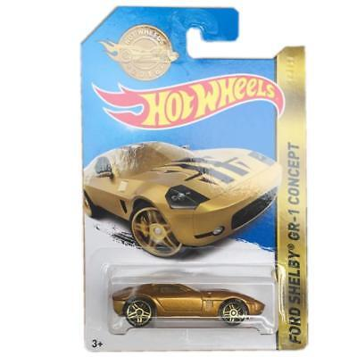 Mattel DPN13 Hot Wheels Ford Shelby GR-1 Concept Gold 1:64 Spielzeug Auto