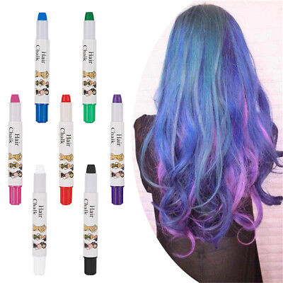 7 Colors Temporary Hair Spray Easy Highlight Color Disposable Hair Crayon Chalk