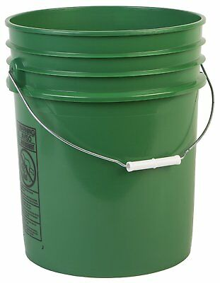 Hudson Exchange Premium 90 Mil HDPE Bucket with Handle, 5 gal, Green