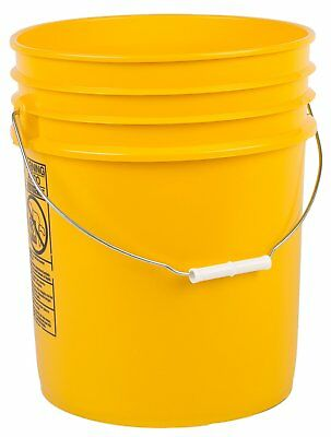 Hudson Exchange Premium 90 Mil HDPE Bucket with Handle, 5 gal, Yellow