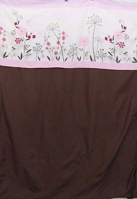 "Kids Line Toddler Bed Crib Zip Duvet Cover Floral Pink, Brown, Ivory 34"" x 44"""