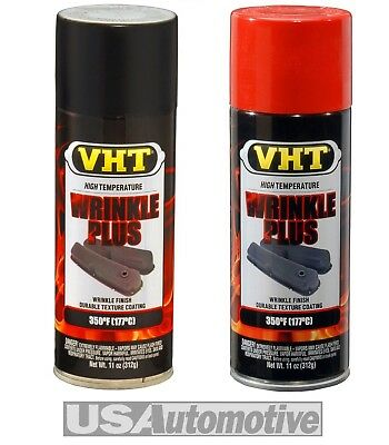 VHT WRINKLE FINISH PAINT BLACK & RED PACK OF 2 CANS SP201 x 1 & SP204 x 1