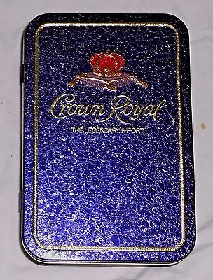 Crown Royal 750Ml Empty Whisky Hinged Tin Metal Storage Box Case Made In England
