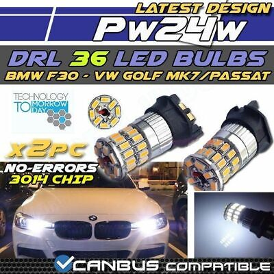 36 SMD WHITE BMW 3 series Daytime Running Lights LED Bulbs DRL PW24W F30 F31