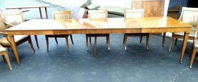 Baker dining room table w/8 chairs, 4 leaves Lot 279