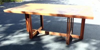 Michael P. Johnson dining table, walnut veneer over ply board in a ge... Lot 52