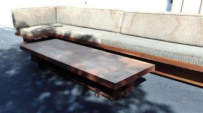 Michael P. Johnson oversized coffee table, solid walnut and walnut ven... Lot 57