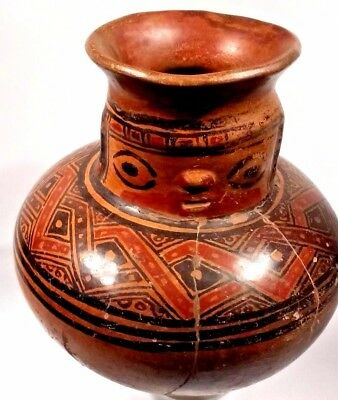 Pre-Columbian Polychrome Pottery Effigy Vessel - Costa Rica 900 - 1300 AD