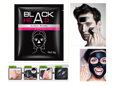 Black Head Remover Mud Face Mask. Mens & Womans FACEMASK Charcoal Bamboo Vitamin